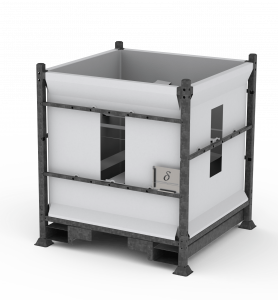 DFS010 - Flexible silo - half height - top outlet