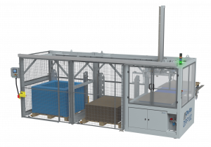 DPP102 - Flat sheet, tray & top frame placer - two warehouses